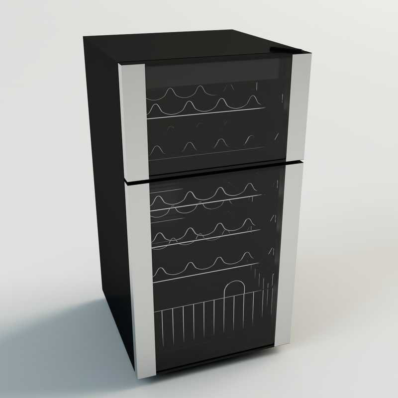 3d wine refrigerator apartment