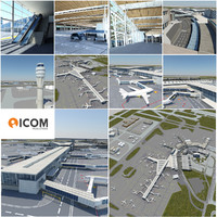 airport environment 3d model
