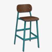 bar stool 3d obj