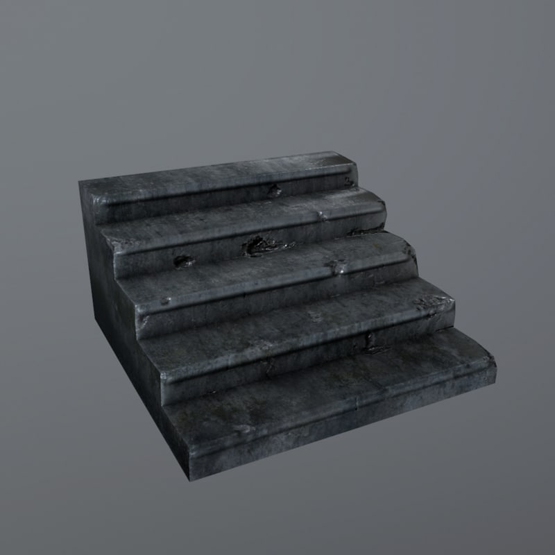 stairs old 3d x