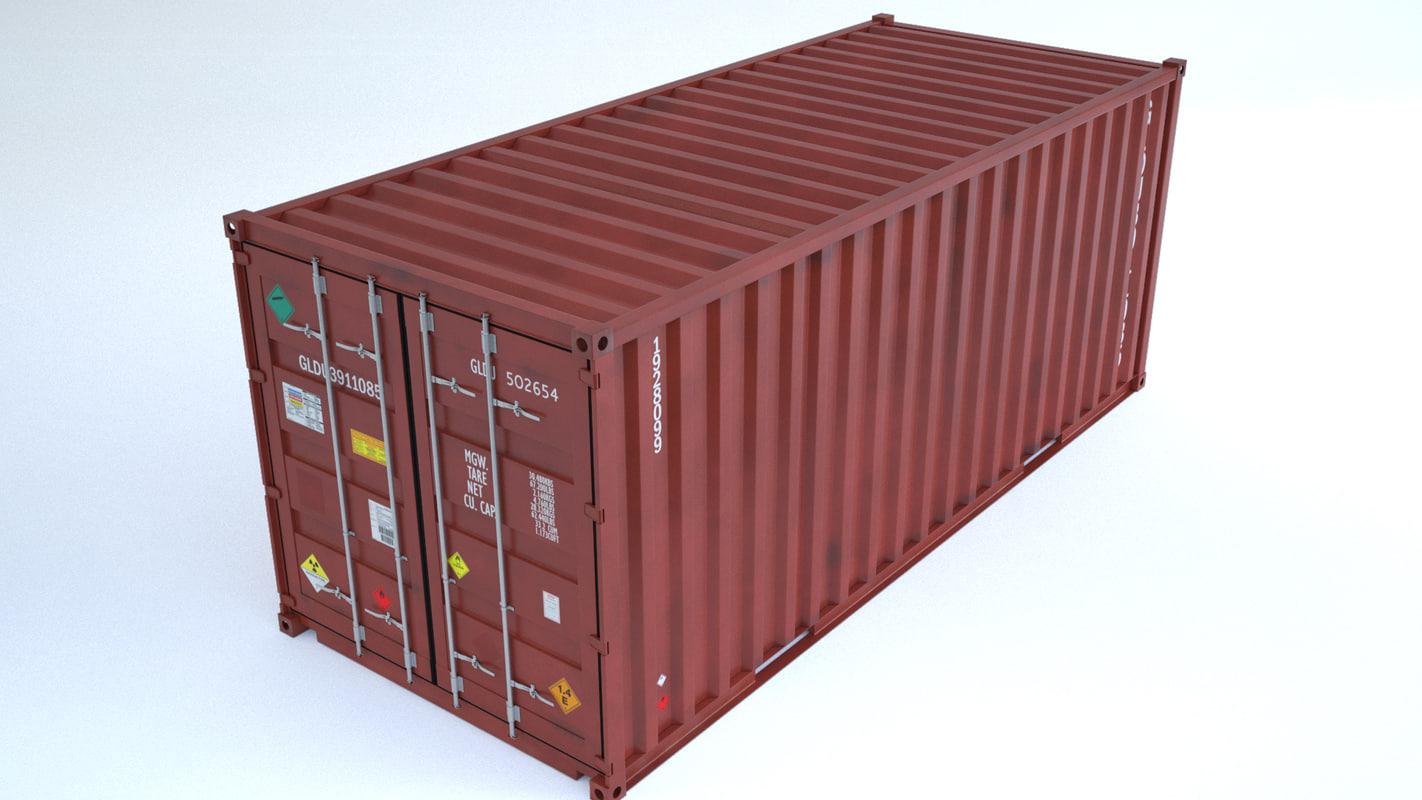 container cargo 3d max