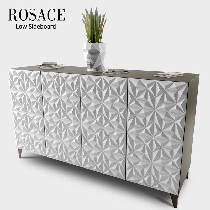 3d rosace sideboard