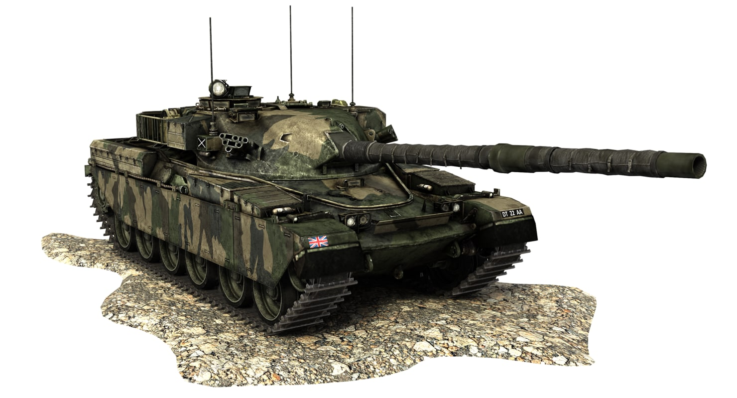 3d model chieftain battle tank united kingdom