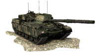 3d model chieftain battle tank united kingdom