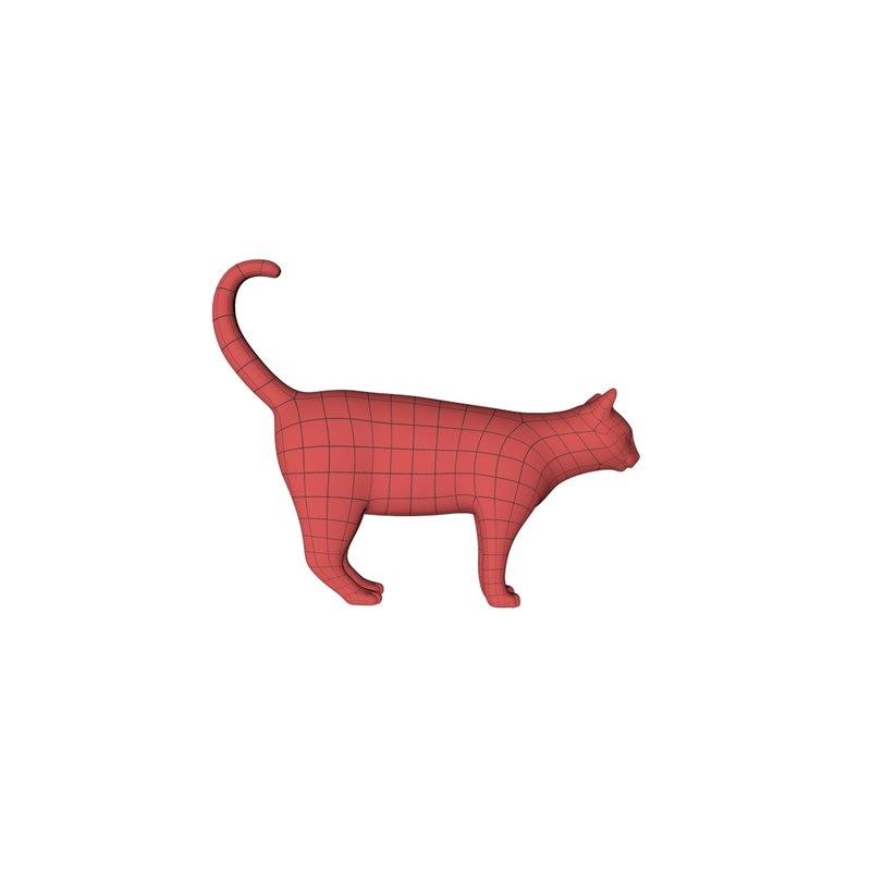 obj base mesh cat