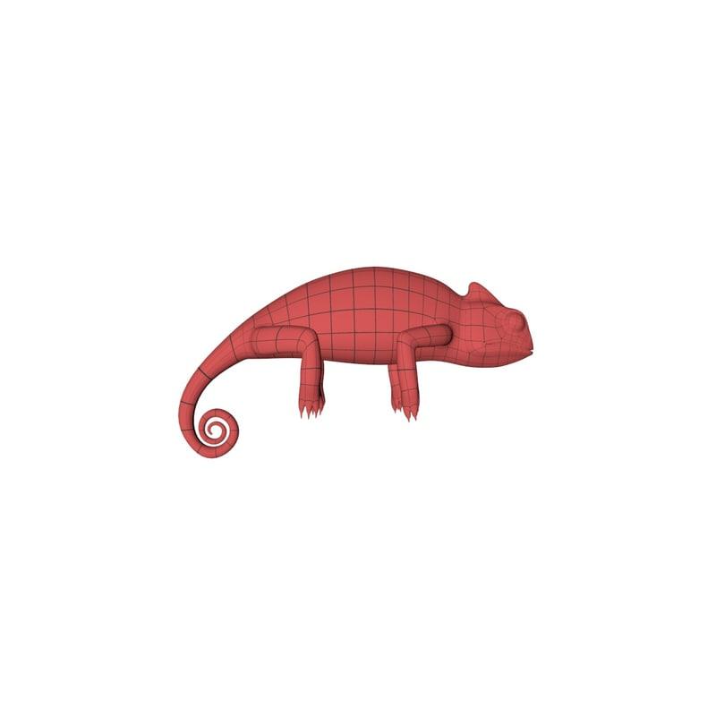 3d fbx base mesh chameleon