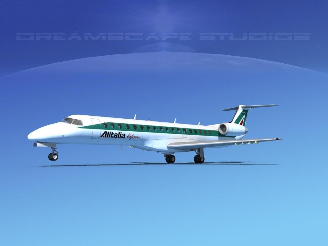 3d embraer erj 145