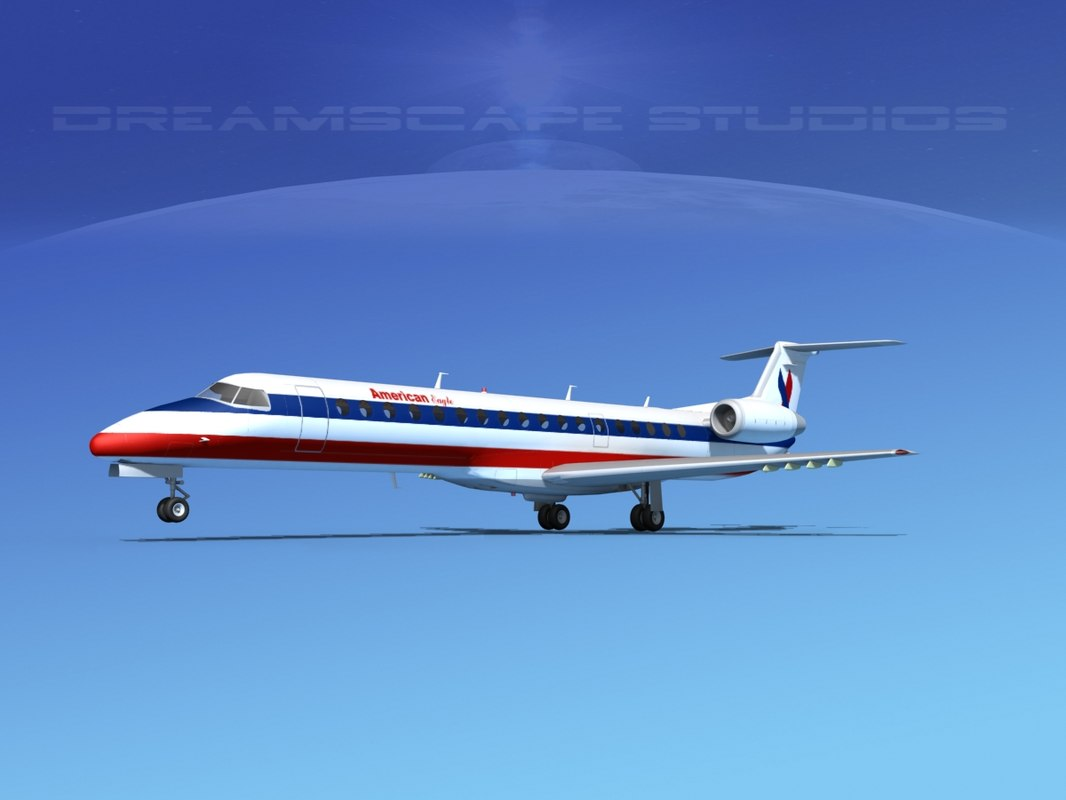 embraer erj 145 3d model