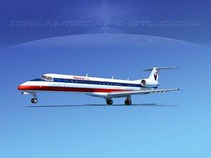 embraer erj 145 3d model