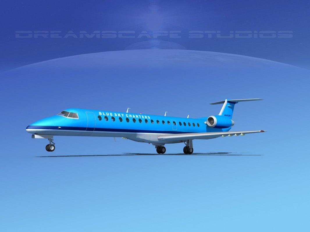 dxf embraer erj 145 charter