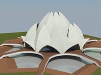 indian temple 3d model