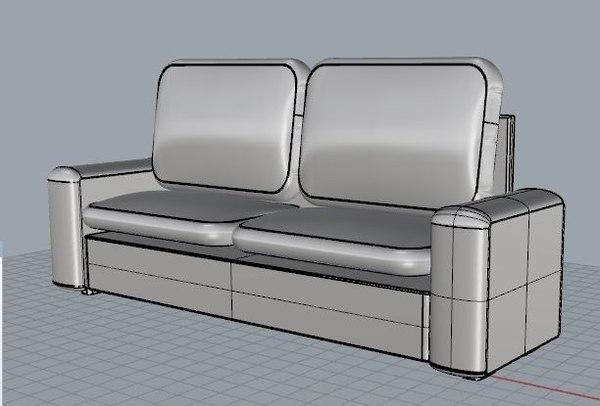 free 3ds mode ikea kivik series sofa