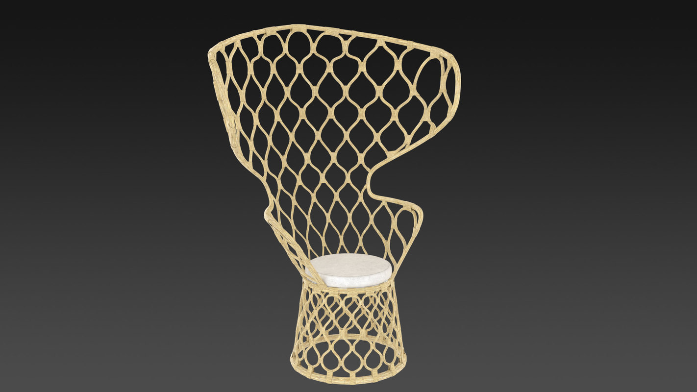 3d model chairrope