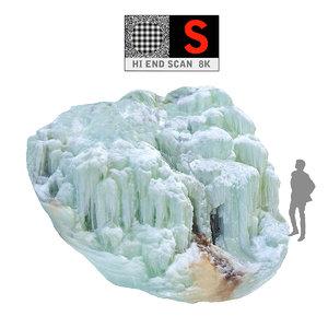 icefall phenomenon nature 3d max