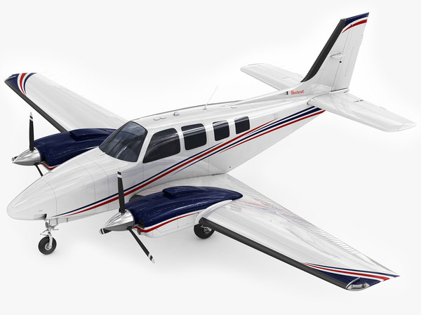 3d model beechcraft baron g58