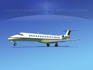 3d model embraer erj 145
