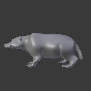 free 3ds mode badger mammals