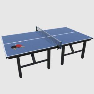 table tennis set 3d obj