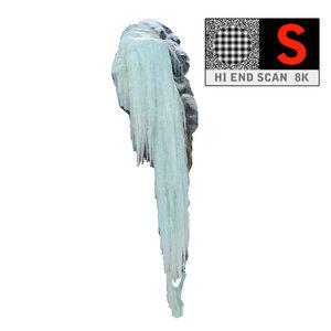 ice icicle 3d obj