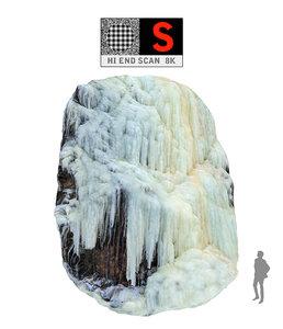 3d model icefall phenomenon nature