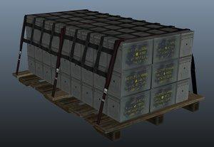ammunition pallet 3d model