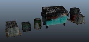 3d apocalypse pack props
