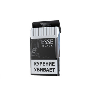 3d model opened cigarettes esse black