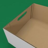 realistic cardboard box obj