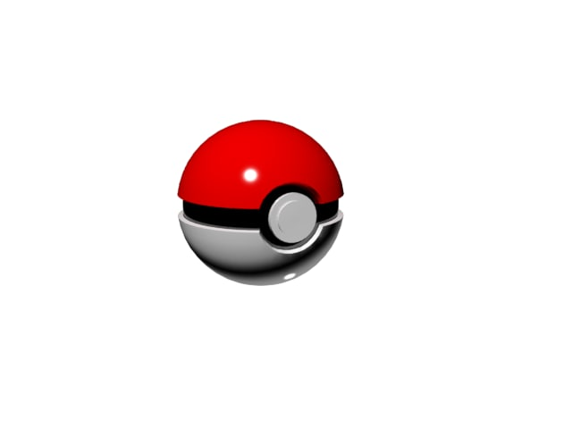pokeball 3d obj