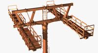 steel pole 3d max