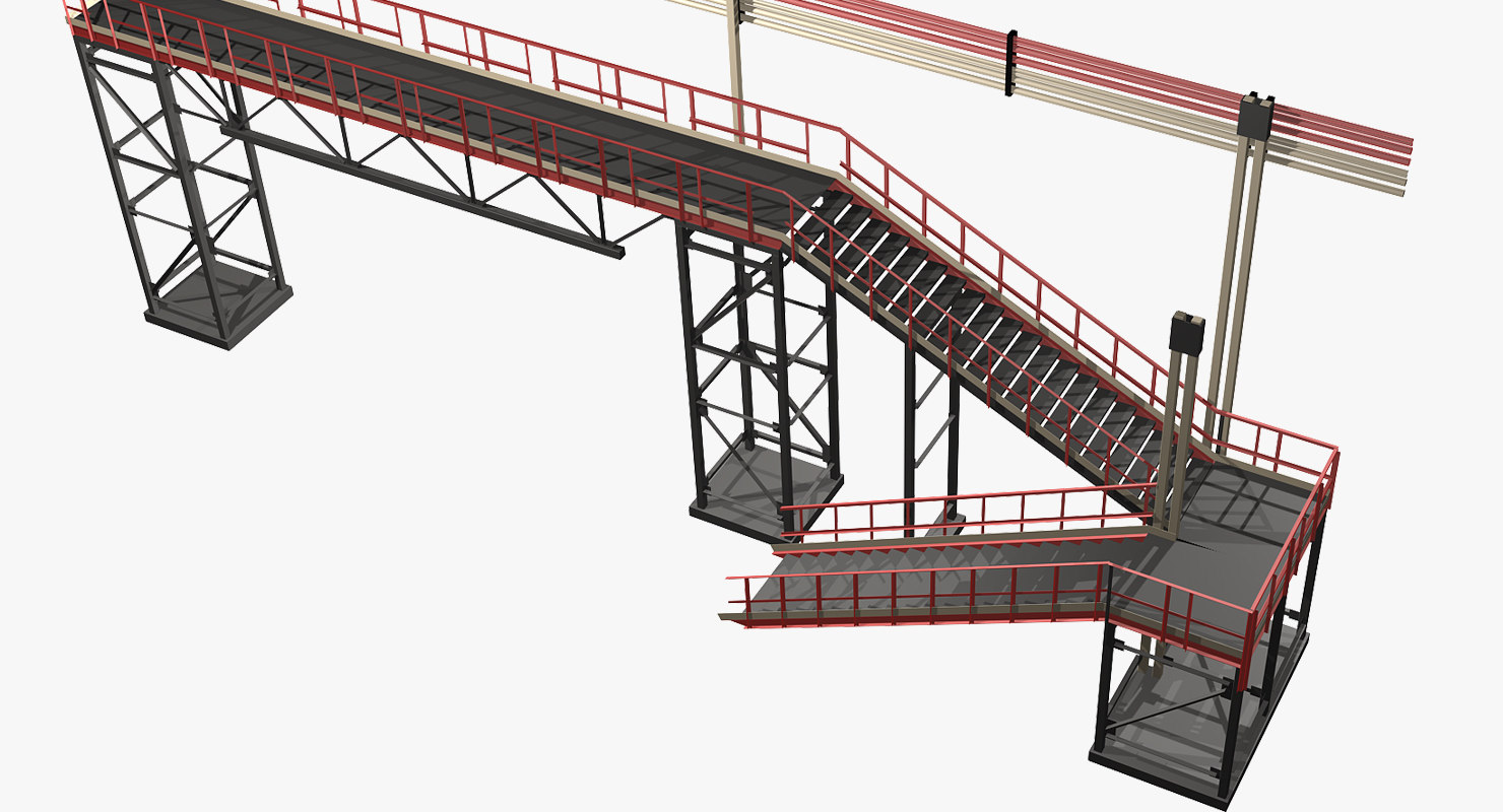 steel staircase 3d model