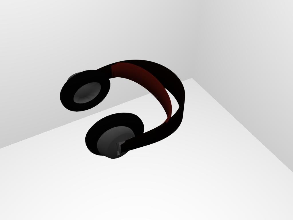 3d headphone model