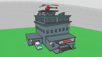 3d model low-poly cartoon hospital