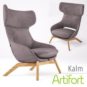 max armchair artifort kalm