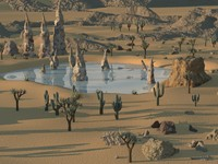 desert environment background 3d x