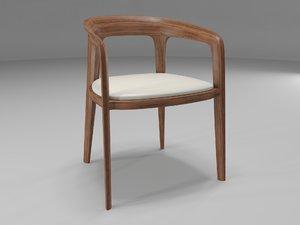 corvo chair design 3d model