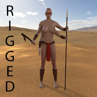 3d arms woman warrior