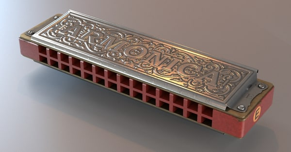 3d diatonic harp