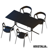 kristalia outdoor set 3d model