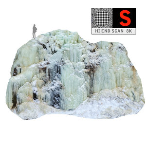 3d icefall phenomenon nature model