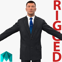 businessman rigged 3d ma