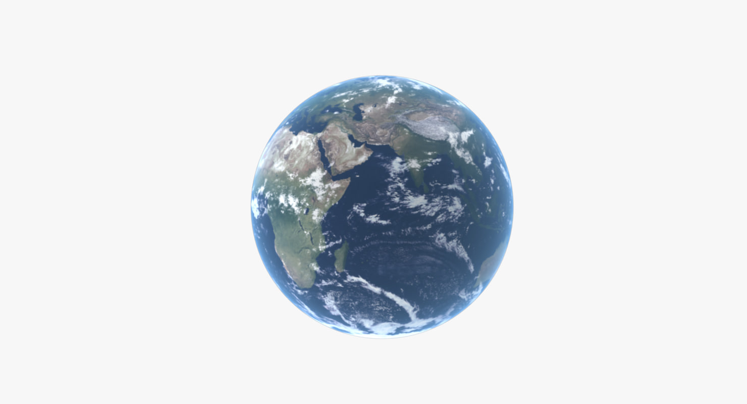 3d model earth planet 2 version