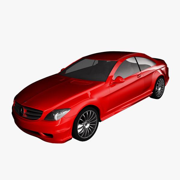 free mercedes-benz cl600 2007 3d model