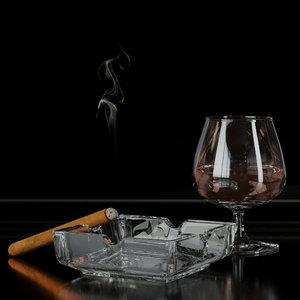 ash ashtray cigar 3ds