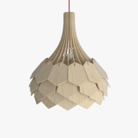 3d wooden ceiling lamp 01 model