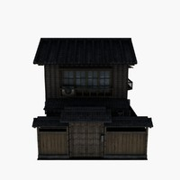 3d model of house japanese japan