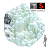 icefall phenomenon nature 3d model