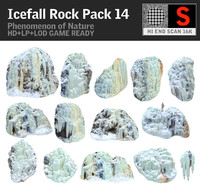icefall phenomenon nature pack 3d obj