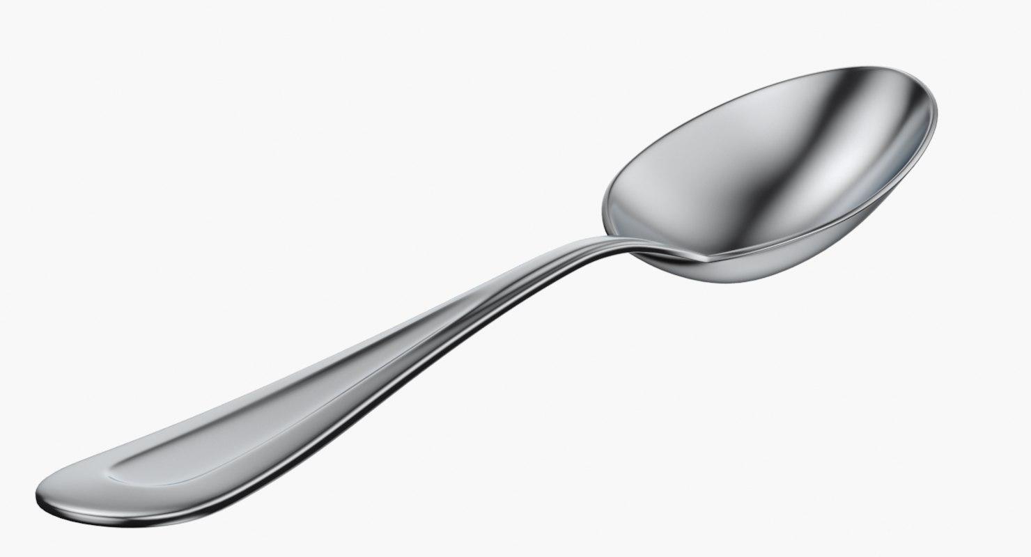 3d model classic teaspoon