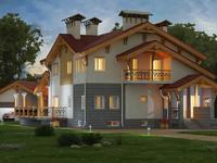 cottage house building fbx